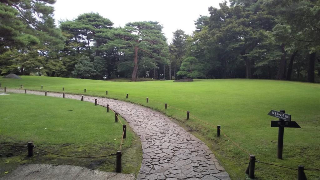 殿ヶ谷戸庭園の大芝生