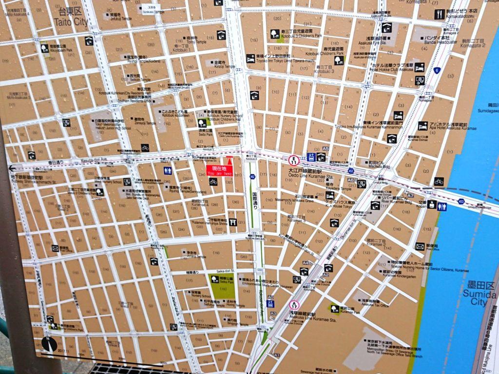 浅草橋問屋街map