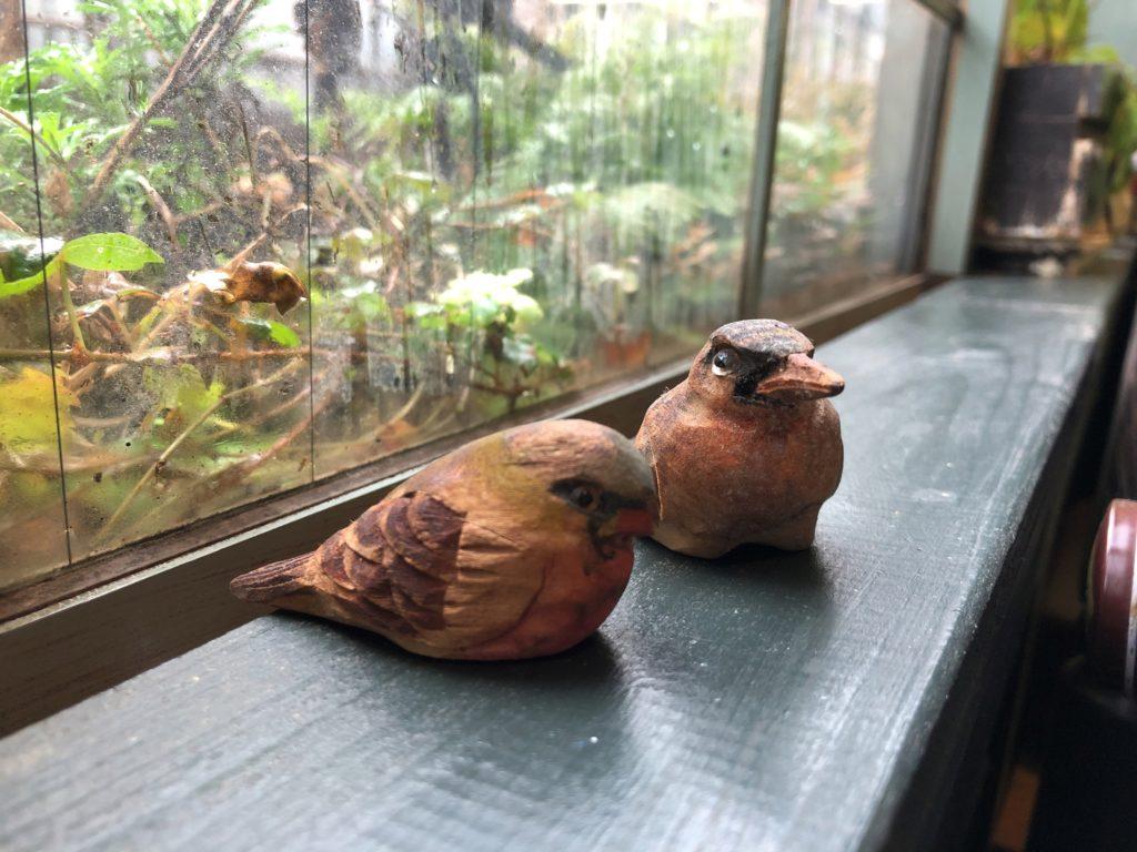 小鳥の置物